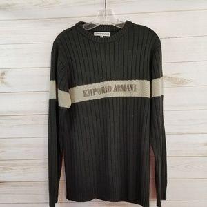 Emporio Armani men's knit logo sweater size XL